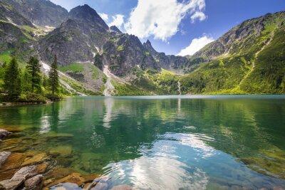 Plakat Piękne krajobrazy z Tatr i jeziora w Polsce