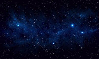 Plakat Piękne miejsca z niebieską mgławicą, realistyczny wektor - EPS 10