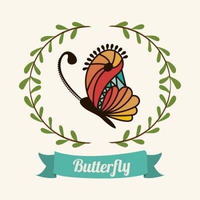 Plakat piękne motyle projektowania