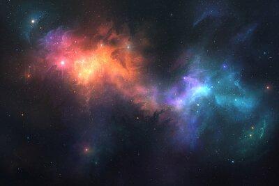 Plakat Piękne tło przestrzeni