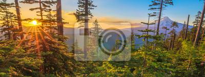 Plakat Piękne Vista Mount Hood w stanie Oregon, USA.