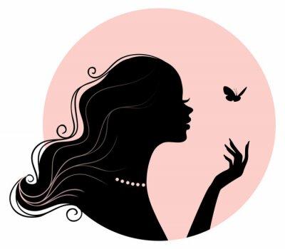 Plakat Piękno kobiety z motyla