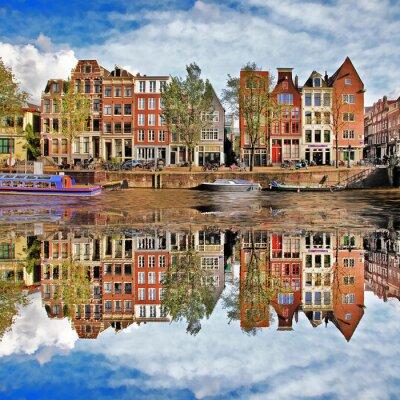 Plakat piękny Amsterdam, Holandia