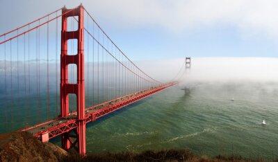 Plakat piękny Golden Gate Bridge w San Francsico