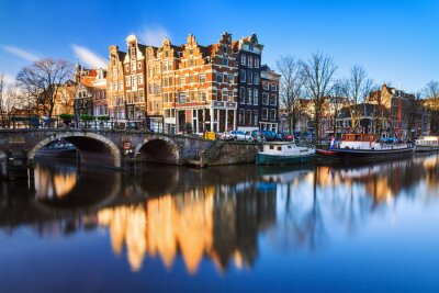 Plakat Piękny obraz Światowego Dziedzictwa UNESCO canals na