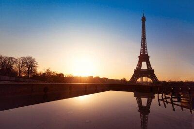 Plakat piękny widok na Paryż, Francja