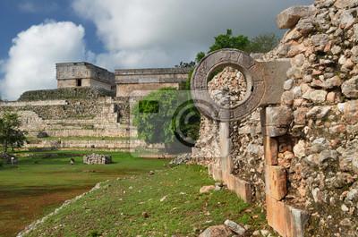 Plakat Pierścień Mayan mecz w starożytnym mieście Uxmal
