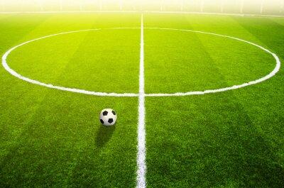 Plakat Piłka nożna na polu