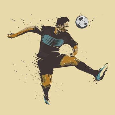 Plakat Piłka nożna Skoki atramentu powitalny