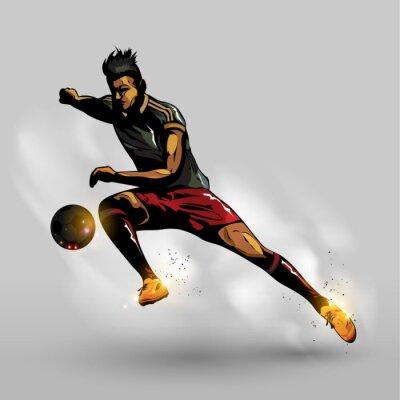 Plakat Piłka przechodzi abstrakcyjny Piłka nożna
