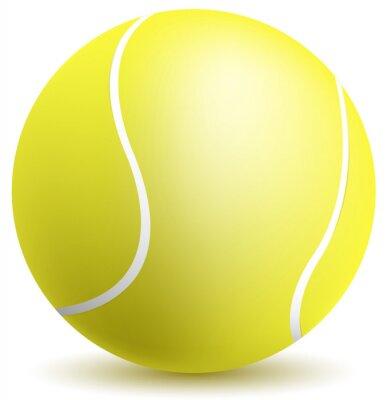 Plakat piłka tenisowa