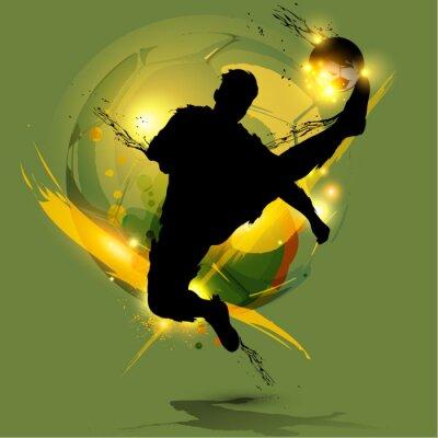 Plakat piłkarz powitalny atramentu