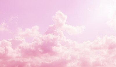 Plakat pink sky and clouds background