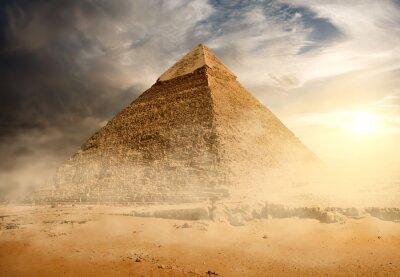 Plakat Piramida w pył piasku