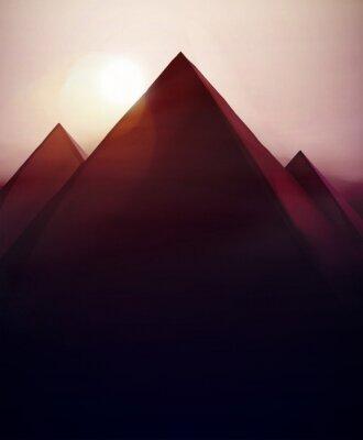 Plakat Piramidy w tle