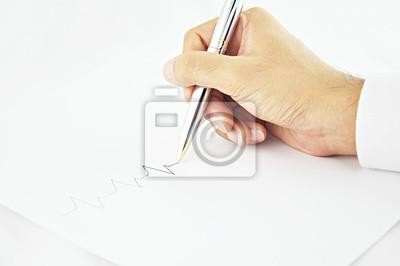 Plakat Pisanie linii strony puls w białym papierze