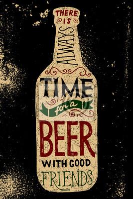 Plakat Piwo z butelki typu konstrukcji