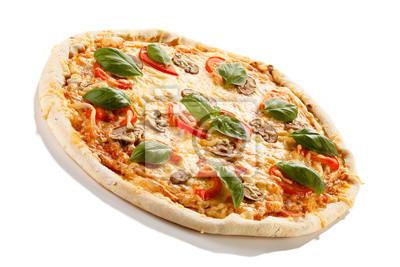 Plakat Pizza na białym tle