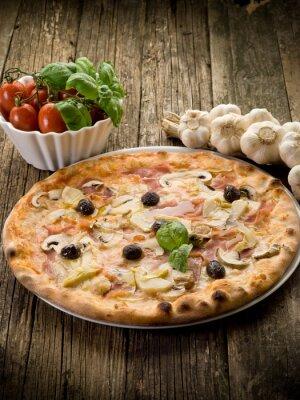 Plakat pizzeria capricciosa