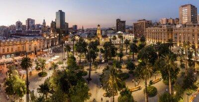 Plakat plac Plaza de Armas w Santiago, Chile