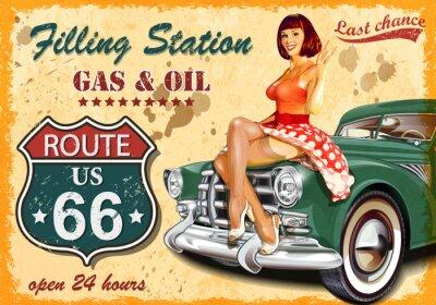 Plakat Plakat do stacji benzynowej