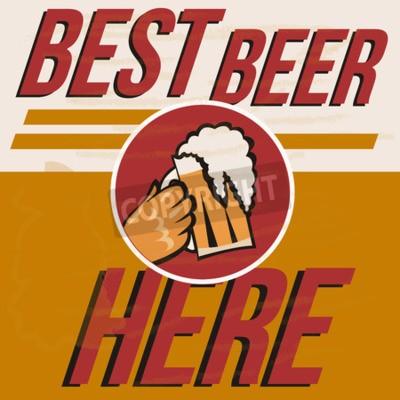 Plakat Plakat retro piwo wektorowe. Vintage plakat szablonu na zimne piwo. Retro etykieta lub projekt transparentu. Wektor stare tekstury papieru żywności i napojów koncepcji tła.