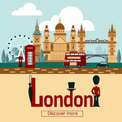 Plakat Plakat turystyczny w Londynie