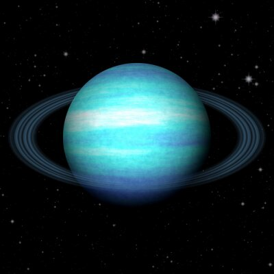 Plakat Planeta Uran generowane abstrakcyjna tekstury tła