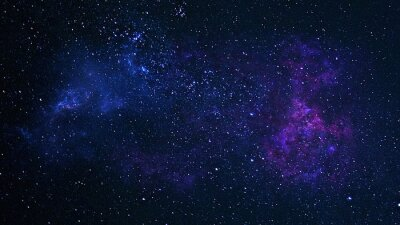 Plakat Planets, galaxy, Universe, Starry night sky, Milky way galaxy with stars and space dust in the universe, Long exposure photograph, with grain.