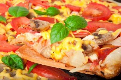 Plasterek domowej pizzy