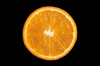 Plakat Plasterek pomarańcze na czarnym tle