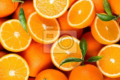 Plakat plasterki owoców cytrusowych - pomarańcze