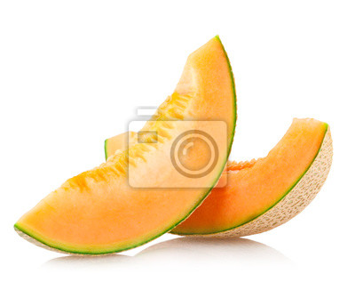 Plakat plastry melona kantalupa