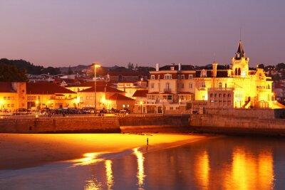 Plakat Plaża Cascais, Lizbona, Portugalia