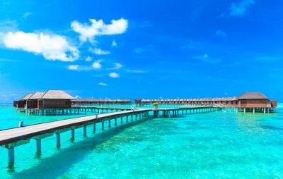 Plakat plaża z Malediwów
