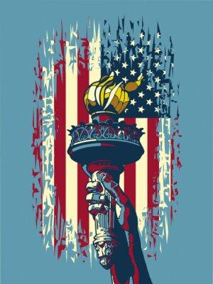 Plakat Płomień Wolności