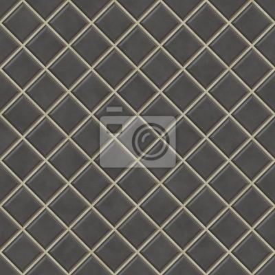 Plakat Płytki bez szwu czarne tło tekstury, kuchnia lub łazienka con