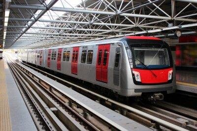 Plakat Pociąg metra na stacji metra