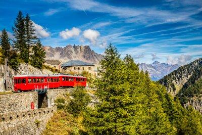 Plakat Pociąg W Montenvers Mer de Glace-Chamonix, Francja
