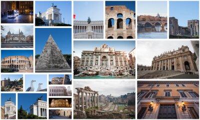 Plakat Pocztówka kolaż z Rzymu.