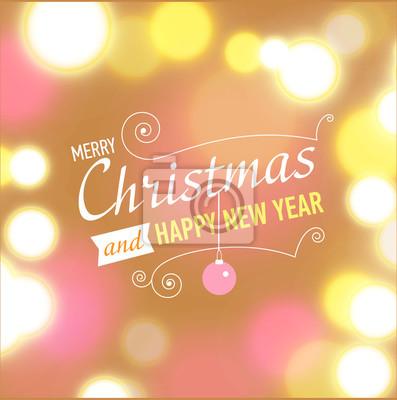 Plakat Pocztówki świąteczne szablonu.