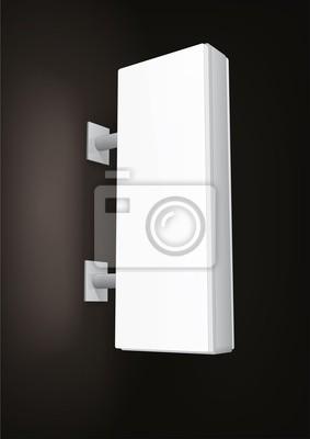 Podświetlane znaki shop light box, pionowy prostokąt