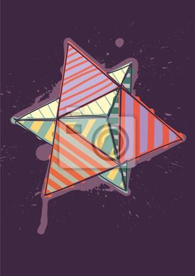 podwójnego czworościanu wyciągnąć rękę kolorów wylęgowych