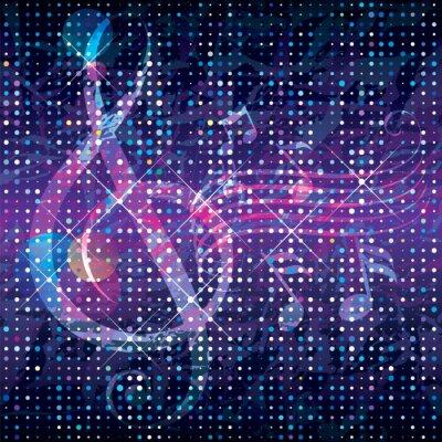 Plakat Pojęcie abstrakcyjne muzyki teksturą tle.