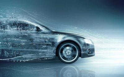 Plakat pojęcie abstrakcyjne samochód