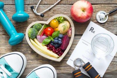 Plakat Pojęcie zdrowego stylu życia z diety fitness i medycyny