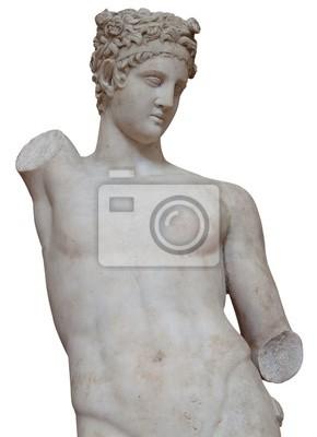 Plakat Pojedyncze białe marmurowy posąg na młodego człowieka bez rąk