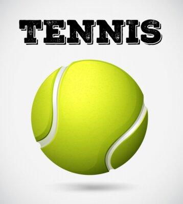 Plakat Pojedynczy piłka tenisowa z tekstem