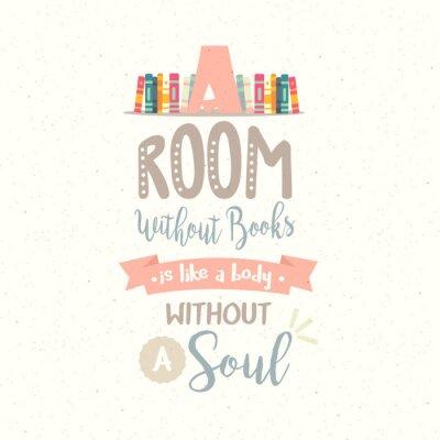 Plakat Pokój bez książki bez cytowania duszy wektora