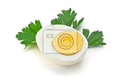 Plakat pół gotowane jajko